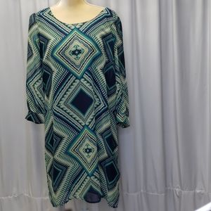 Halo geometric print dress size Large